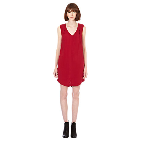 Buy Warehouse Padded Shoulder Dress Online at johnlewis.com