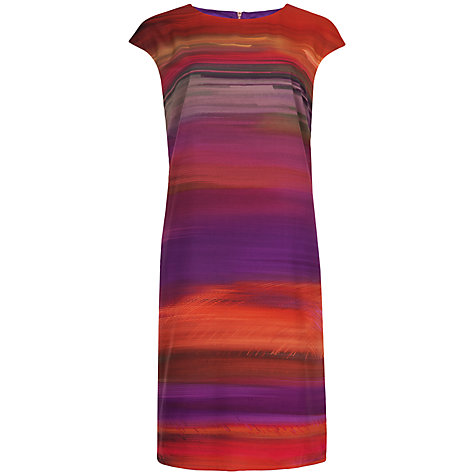 Buy Ted Baker Briyani Haze Print Tunic Dress, Deep Purple Online at johnlewis.com