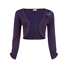 Buy Kaliko Applique Bolero, Dark Purple Online at johnlewis.com