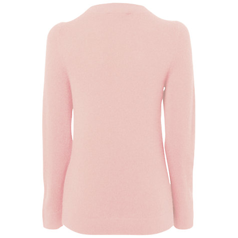 Buy Jaeger Cashmere Pocket Sweater, Pale Pink Online at johnlewis.com
