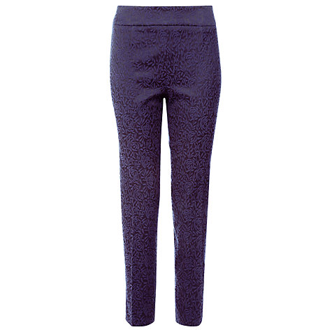 Buy Kaliko Jacquard Slim Leg Trousers, Purple Online at johnlewis.com