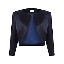 Buy Precis Petite Satin Bolero, Navy Online at johnlewis.com