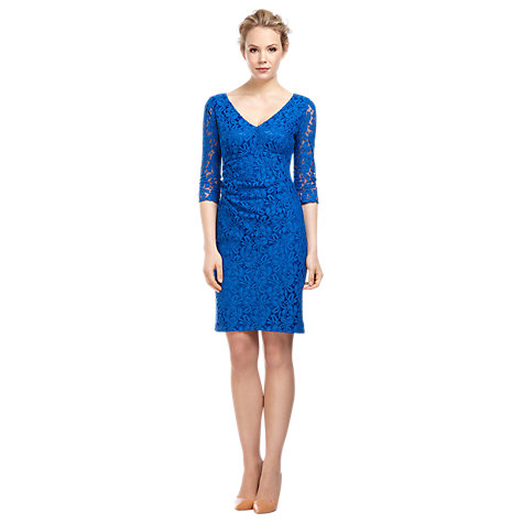 Buy Kaliko Lace Shift Dress, Cobalt Online at johnlewis.com