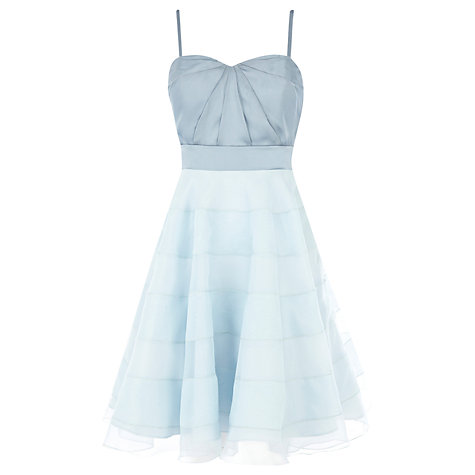 Buy Coast Avelina Bandeau Dress, Pale Blue Online at johnlewis.com