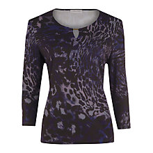 Buy Windsmoor Dark Purple Abstract Top, Dark Purple Online at johnlewis.com