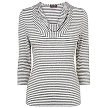 Buy Phase Eight Carrie Stripe Top, Grey/Ivory Online at johnlewis.com