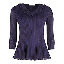 Buy Windsmoor Damson Crinkle Top, Dark Purple Online at johnlewis.com