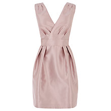 Buy Coast Riley Pleated Dress, Soft Pink Online at johnlewis.com