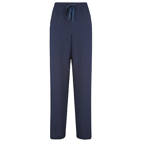 Buy Windsmoor Textured Trousers, Navy Online at johnlewis.com