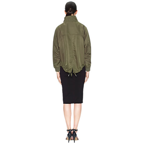 Buy Whistles Dougie Cropped Parka, Khaki Online at johnlewis.com