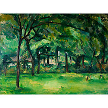 Buy The Courtauld Gallery, Paul Cézanne - Farm in Normandy, Summer (Hattenville) Print Online at johnlewis.com