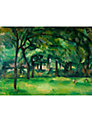 The Courtauld Gallery, Paul Cézanne - Farm in Normandy, Summer (Hattenville) Print