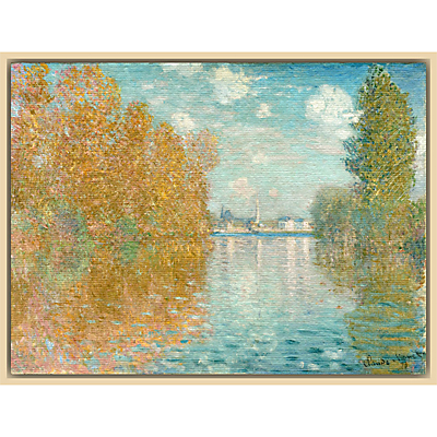 The Courtauld Gallery, Claude Monet – Autumn effect at Argenteuil 1873 Print