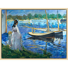 Buy The Courtauld Gallery, Edouard Manet - Banks of the Seine at Argenteuil 1874 Print Online at johnlewis.com