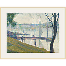 Buy The Courtauld Gallery, Georges Seurat - Bridge at Courbevoie 1886-1887 Print Online at johnlewis.com