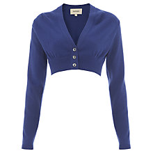 Buy Havren V-Neck Cashmere Blend Cardigan, Cobalt Online at johnlewis.com