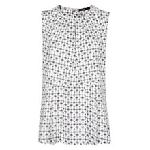 Buy Mango Peplum Top, Natural White Online at johnlewis.com