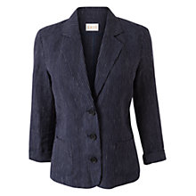 Buy East Pinstripe Linen Jacket, Navy Online at johnlewis.com