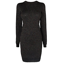 Buy Boutique by Jaeger Lurex Knitted Dress, Black Online at johnlewis.com