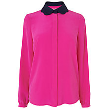 Buy Boutique by Jaeger Silk Collared Blouse Online at johnlewis.com
