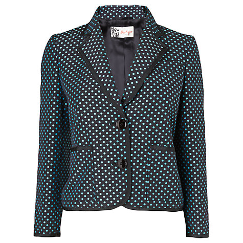 Buy Jaeger Cropped Blazer, Blue Online at johnlewis.com