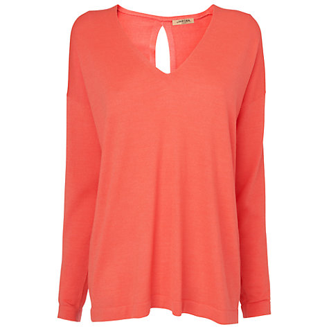 Buy Jaeger V-Neck Jumper, Orange Online at johnlewis.com
