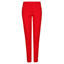 Buy Mango Cropped Slim Trousers, Bright Red Online at johnlewis.com