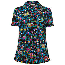 Buy Boutique by Jaeger Frill Blouse, Dark Multi Online at johnlewis.com