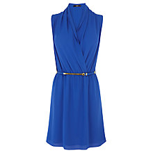 Buy Oasis Drape Cowl Dress, Rich Blue Online at johnlewis.com