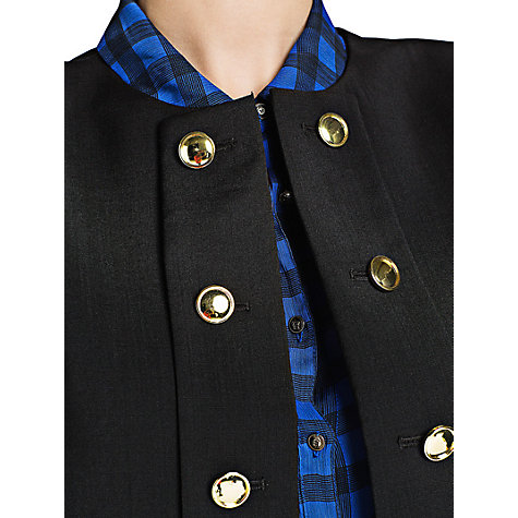 Buy Mango Military Wool Jacket, Black Online at johnlewis.com