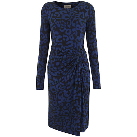 Buy Havren Ocelot Print Dress, Navy/Cobalt Online at johnlewis.com