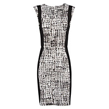 Buy Mango Printed Pencil Dress, Natural White Online at johnlewis.com