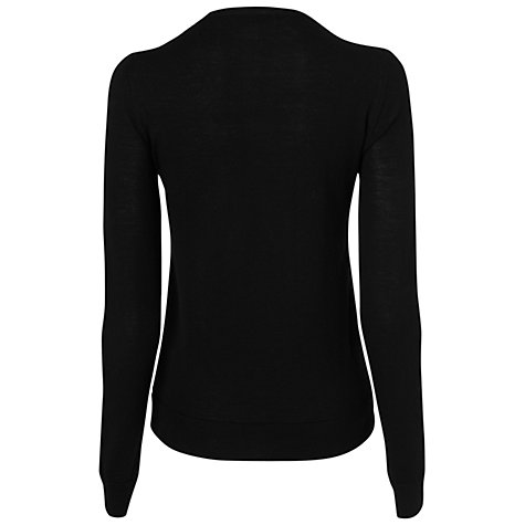 Buy Jaeger Flash Print Sweatshirt, Black Online at johnlewis.com
