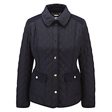 Buy Viyella Petite Turnback Cuff Jacket, Navy Online at johnlewis.com