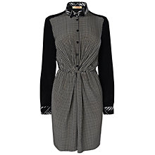 Buy Jaeger Grid Printed Twist Dress, Black Online at johnlewis.com