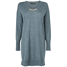 Buy Jaeger Chain Detail Dress, Grey Online at johnlewis.com