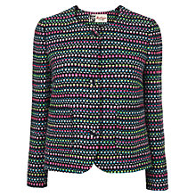 Buy Boutique by Jaeger Bow Back Jacket, Dark Multi Online at johnlewis.com