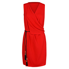 Buy Mango Draped Wrapped Belt Dress, Bright Red Online at johnlewis.com