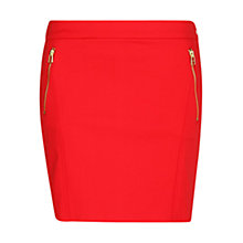 Buy Mango Mini Zip Skirt, Bright Red Online at johnlewis.com