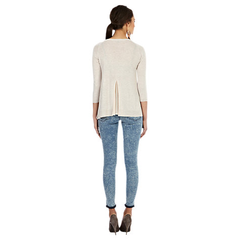 Buy Warehouse Swing Pleat Back Jumper, Beige Online at johnlewis.com