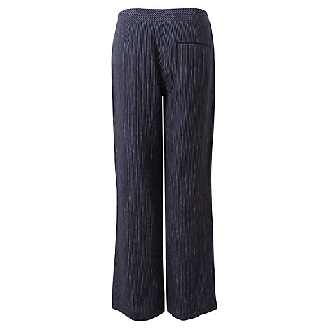 Buy East Pinstripe Linen Trousers, Navy Online at johnlewis.com