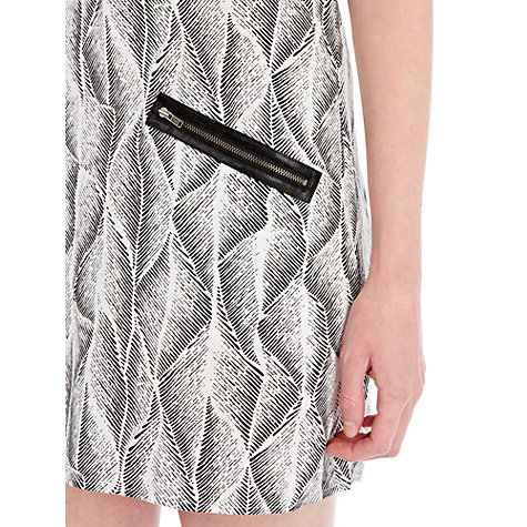 Buy Warehouse Graphic Wave Shift Dress, Multi Online at johnlewis.com