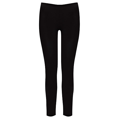 Buy Warehouse Soft Stretch Leggings, Black Online at johnlewis.com