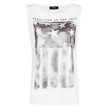 Buy Mango Flag Printed T-Shirt, White Online at johnlewis.com