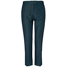Buy Jaeger Spotty Slim Leg Trousers, Blue Online at johnlewis.com