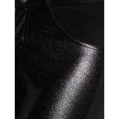 Buy Mango Glossy Panel Jersey Trousers, Black Online at johnlewis.com