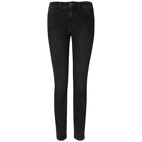 Buy Jaeger Skinny Washed Jeans, Black Online at johnlewis.com