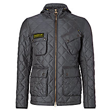 Buy Barbour International Paxton Quilted Jacket, Charcoal Online at johnlewis.com