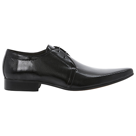 Buy Dune Aluminium Stripe Patent Leather Derby Shoes Online at johnlewis.com