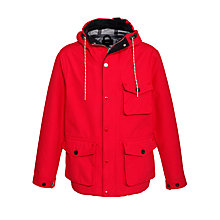 Buy Gant The Rainier Jacket, Bright Red Online at johnlewis.com